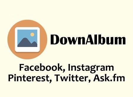 社群網站照片相簿影片打包下載工具 – DownAlbum (Facebook, Instagram, Pinterest …)